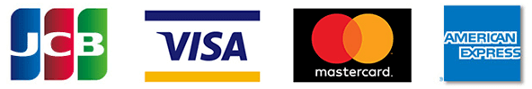 JCB・VISA・mastercard・AMERICAN EXPRESS