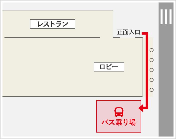 バスのりば地図